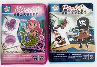 Travel Mini Complete Art Caddy for Kids Mermaid and Pirate