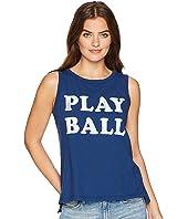 Play Ball Slub Sleeveless Tank Top
