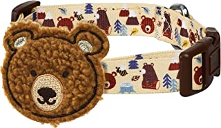 """Blueberry Pet 2021 New Funny Bear Adjustable Dog Collar with Detachable Décor, Small, Neck 12""""-16"""""""