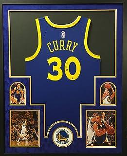 f8fca8b4e Stephen Curry Golden State Warriors Autograph Signed Custom Framed Blue Swingman  Jersey Suede Mat Steiner Sports