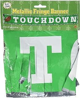 Metallic Touchdown Fringe Banner Party Accessory (1 count) (1/Pkg)