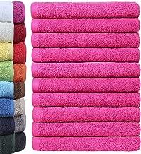 450 Gramm Qualit/ät 16x21 cm 100 /% Baumwolle Premium Frottee Waschlappen // Waschhandschuh rosa