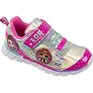 L.O.L Surprise Girls Sneakers, Light Up Fashion and Athletic Shoes with Strap, Queen Bee Deva MC...