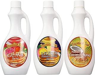 Hawaiian Sun Premium Syrup Assortment 15.75-ounce (Pack of 3)