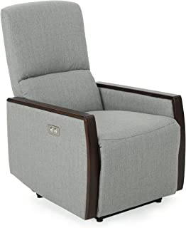 Christopher Knight Home 305556 Joyy Power Recliner, Gray + Brown