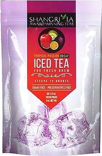 Shangri La Tea Company Iced Tea, Tropical Passion Decaf, Bag of 6, 1/2 Ounce Pouches