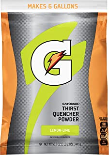 Gatorade Thirst Quencher Powder, Lemon Lime, 51 Ounce Pouch, Makes 6 Gallons/Pouch (Pack of 14)