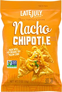 Late July Snacks Clásico Nacho Chipotle Tortilla Chips, 2 Ounce (Pack Of 6)