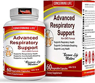 Respiratory Advanced Lung Support Supplement - Natural Lung Cleanse & Detox - Lung Supplements Bronchial Wellness - Natural Lung Breathing Relief - Asthma Supplement Support