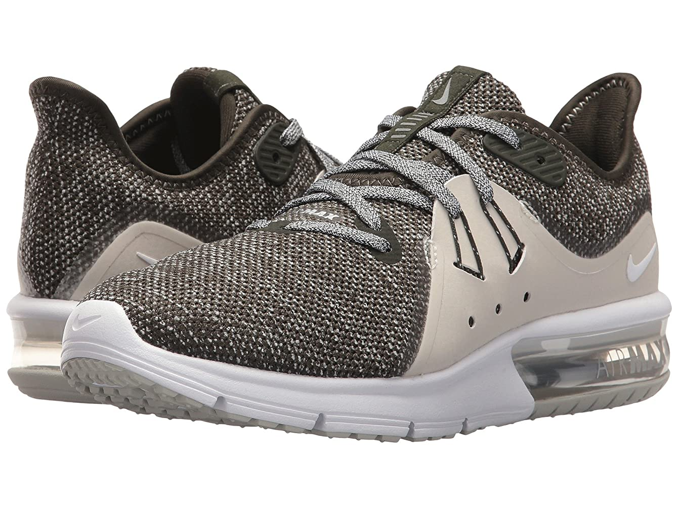 開梱土砂降り注ぎます(ナイキ) NIKE レディースランニングシューズ?スニーカー?靴 Air Max Sequent 3 Sequoia/Metallic Platinum/White 11 (28cm) B - Medium