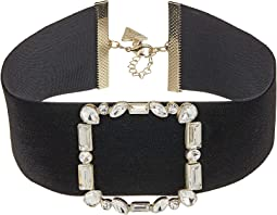 GUESS - Wide Velvet Buckle Choker