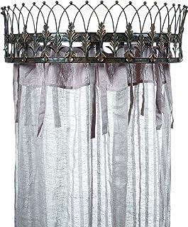 Creative Co-op Elegant Metal Curtain Crown, Rust