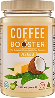 Coffee Booster: Naked | The Original High-Fat Coffee Creamer | Organic Keto-Friendly Blend of Grass-fed Ghee and Coconut Oil | 15 oz