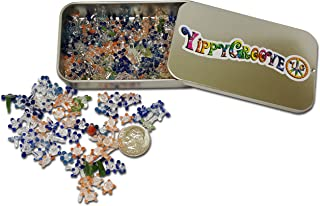 Premium Glass Daisy Pipe Screen ~ 200 Pieces Exceptional Daisy Screens in a Limited Edition YippyGroove StashTin-for a Cleaner, Safer, Ash-Free Smoke (200)