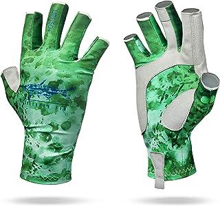 Southern Fin Apparel Kayak Fishing Gloves for Men Women Kids UPF50+ UV Sun Protection Fingerless Fly Fishing, Rowing, Kaya...