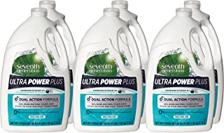 Seventh Generation Ultra Power Plus Natural Auto Dish Gel, Fresh Scent, 65 Ounce (Pack of 6)