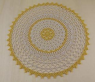 Tapete redondo de algodón, mantel individual de encaje de colores, decoración de mesa