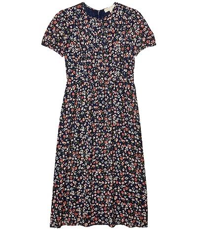 MICHAEL Michael Kors Pin Tuck Short Sleeve Dress (Coral Peach) Women