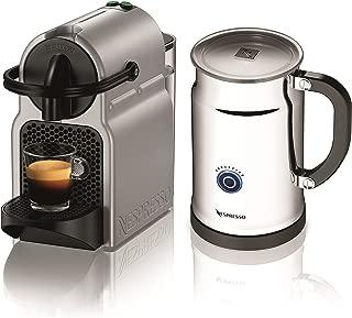 Nespresso A+D40-US-SI-NE Inissia C40 Silver Bundle, Silver (Discontinued Model)