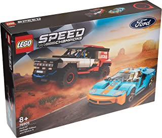 LEGO 76905 Speed Champions Ford GT Heritage Edition & Bronco R 2 Racing Car Toys Building Set, Collectible Racer Vehicles