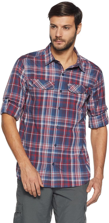 Columbia Men's Silver Ridge Plaid Long Sleeve Shirt, Large, Collegiate Navy Plaid
