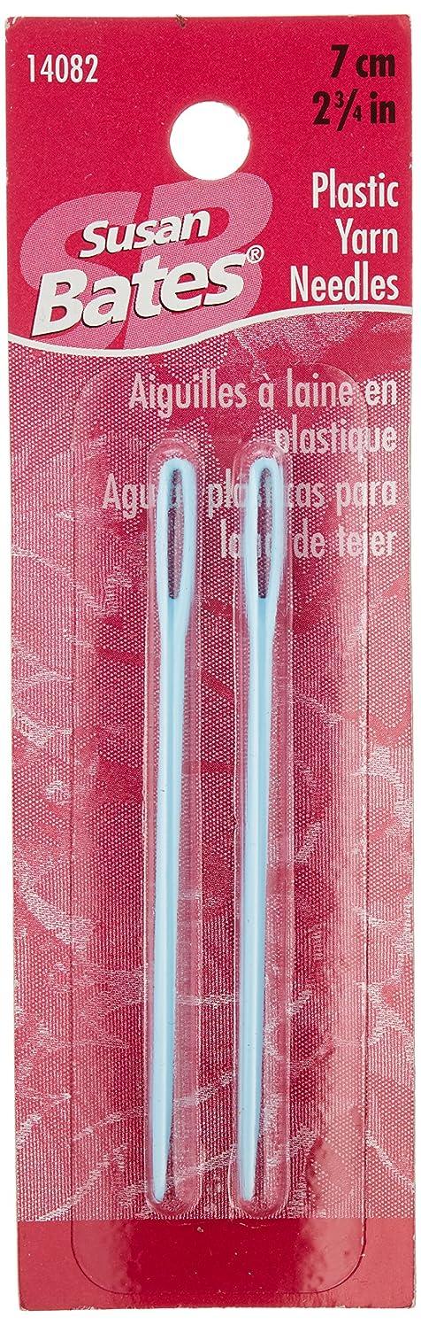 Susan Bates 14082 2-Pack Plastic Yarn Knitting Needle, 2-3/4-Inch