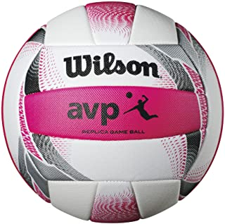 Wilson AVP II Replica Beach Ball, Pink/White
