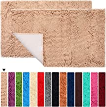 Bath Rugs 2 Pieces Floor Non Slip Bathroom Mat ORANIFUL Microfiber Shaggy Toilet Mat Plush Super Water Absorbent Machine W...