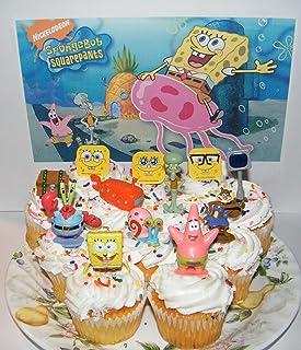 Fine Amazon Com Spongebob Squarepants Cake Cupcake Toppers Party Funny Birthday Cards Online Fluifree Goldxyz