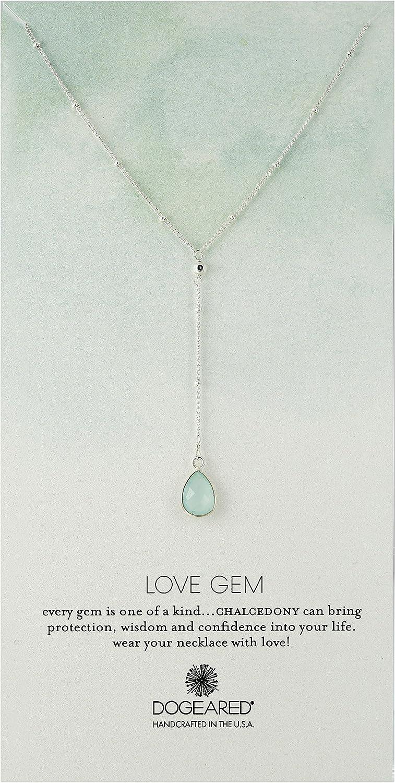 Dogeared Love Gem Beaded Gem Y-Shaped Necklace, 22