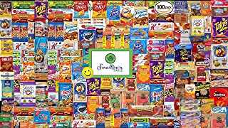 Snacks Variety Pack Gift Box (100 Count) - the Ultimate Individually Wrapped Snack Box Care Package for Adults, Kids, College Students, Office, Camp, and Military