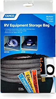 Camco RV Equipment Storage Utility Bag with Identification Tags for Organization-Conveniently Stores Electrical Cords, Fresh Water Sewer Hoses Perfect for Campers and Rvers (53097)