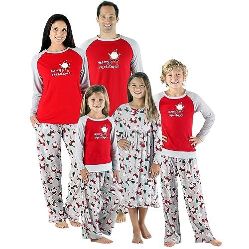 b7815a5065 SleepytimePjs Christmas Family Matching Fleece Santa Pajama PJ Sets