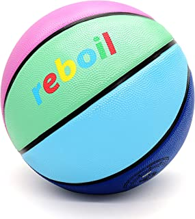 REBOIL Ultra Grip Rubber Basketball (Size 4 Kids, Size 5 Youth, Size 6 WNBA, Size 7 NCAA & NBA)-Outdoor/ Indoor-Advanced Foaming Technology