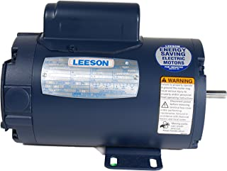Leeson 131622.00 General Purpose ODP Motor, 1 Phase, 184T Frame, Rigid Mounting, 5HP, 1800 RPM, 208-230V Voltage, 60Hz Fequency