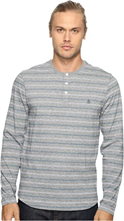 bab3a19fecab3 Original Penguin. Long Sleeve Knitted Nep Shirt.  44.99MSRP   98. Long  Sleeve Marled Striped Henley