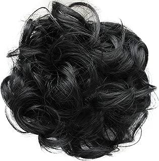 PRETTYSHOP Postizo Coletero Peinado alto, VOLUMINOSO, rizado, Moño descuidado negro #1 G1E