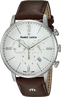 Maurice Lacroix - Reloj analógico para Hombres de con Correa en Cuero EL1098-SS001-112-1