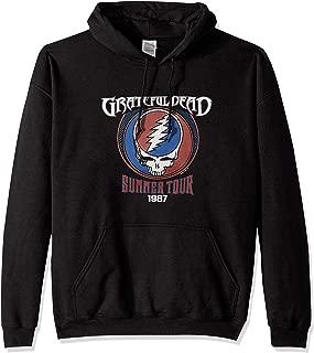 Men's Plus Size Grateful Dead Summer '87 SYF Pullover Hooded Sweatshirt, Black, Large