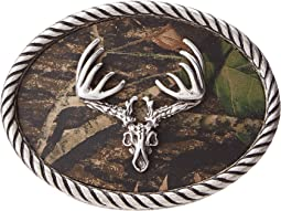 Deer Skull Mossy Oak Camo Buckle