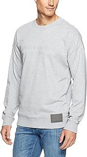 Calvin Klein Men's Logo Oversized Crew Sweatshirt with Patch