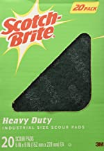 Scotch Brite Heavy Duty Industrial Size Scouring Pads (20 Pack)