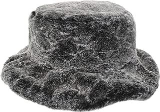 Women's Snakeskin Print Faux Fur Bucket Hat Winter Warmer Fisherman Cap