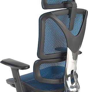 ofiprix | Silla Zenit Pro | Silla de Oficina ergonómica | Silla giratoria de Escritorio | Respaldo Transpirable | Soporte Lumbar | Brazos Ajustables | reposacabezas | Color Azul