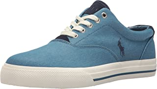 Polo Ralph Lauren Mens Vaughn-Colored Denim Sneaker