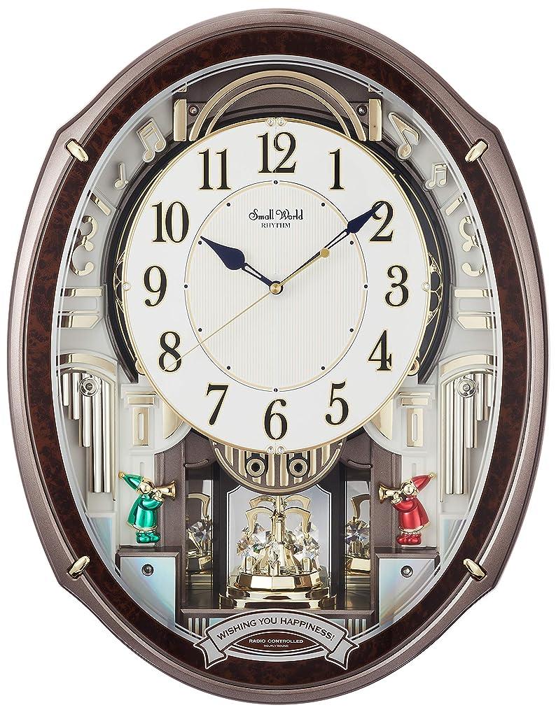 掛け時計 電波時計 からくり時計 メロディ付き スモールワールドアルディ ブラウン リズム時計 4MN545RH23