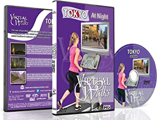 Virtual Walks - Tokyo, Japan at Night for indoor walking, treadmill and cycling workouts