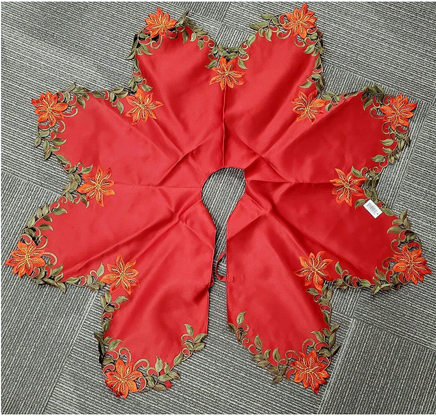 The Decor That is Adored Max 77% OFF Red Christmas Cutout S Max 79% OFF Tree Embroidered
