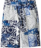 Versace Kids - All Over Barocco Print Sweatshorts (Toddler/Little Kids)