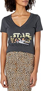 Star Wars Women's Rogue One U-Wing Logo V-Neck Graphic T-Shirt